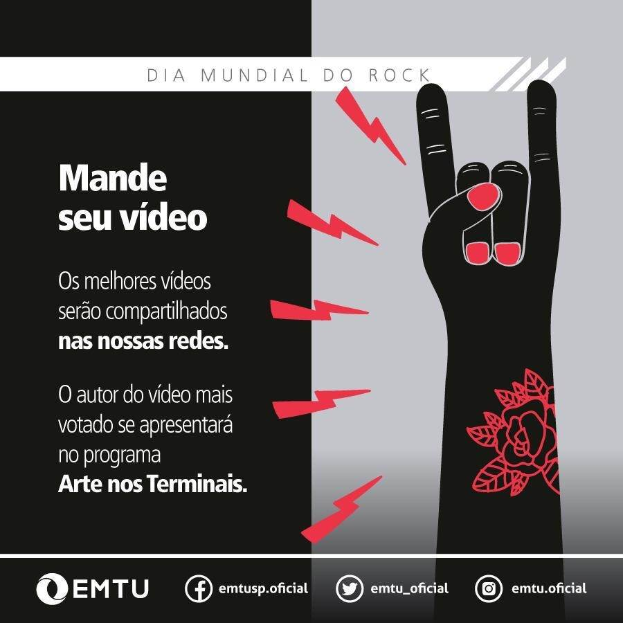 Dia Mundial do Rock: EMTU comemora a data com o lançamento de festival virtual
